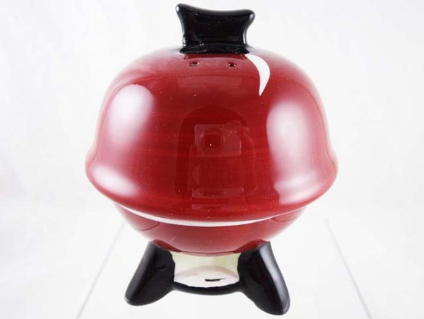 BBQ Grill Salt and Pepper Set - Ceramic - Red and Black - Burgers and Dogs