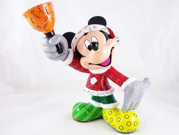 Santa Mickey Mouse - Ringing in the Season - Disney by Britto - Large Resin Figurine