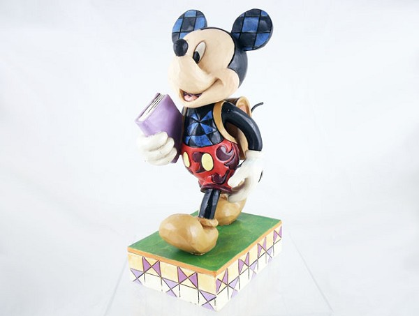 """Eager to Learn"" - Mickey Goes to School - Disney Traditions by Jim Shore - Resin Figurine"