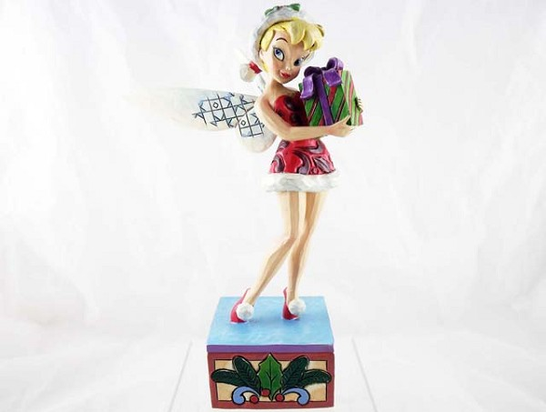 """Tink the Season"" - With A Gift - Disney Traditions by Jim Shore - Resin Figurine"