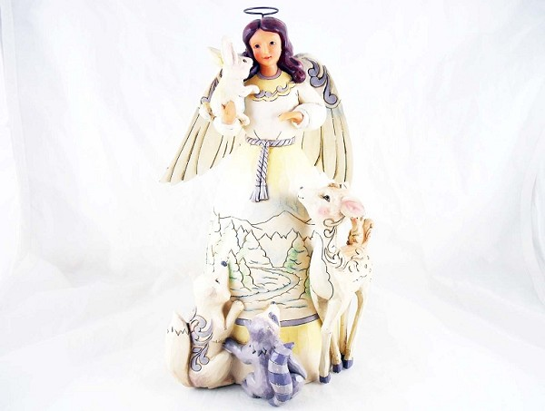 """Peace to All"" - Wintry Woodland Angel with Animals - Jim Shore Heartwood Creek - Resin Figurine"