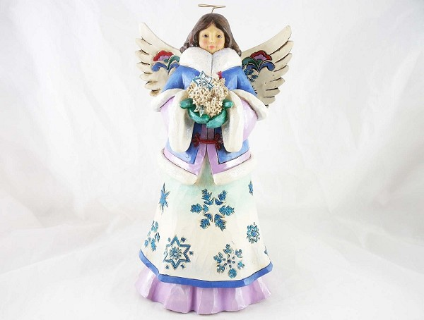 """May Blessings Fall Upon You"" - Snowflake Angel - Jim Shore Heartwood Creek - Resin Figurine"