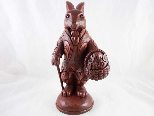 """Gather Sweet Surprises"" - Chocolate Easter Bunny - Jim Shore Heartwood Creek - Resin Figurine"