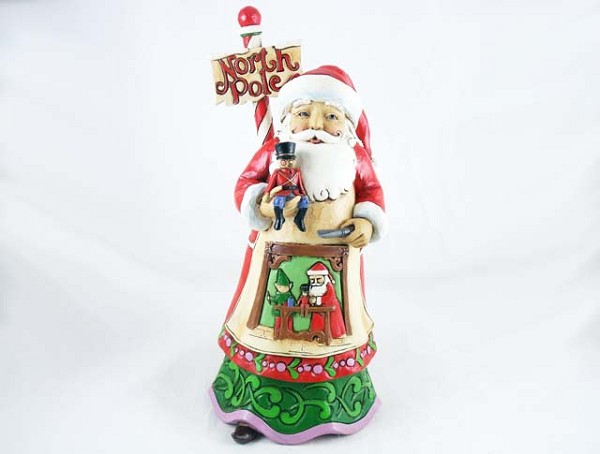 """Workshop Wonders"" - North Pole Santa in Workshop - Jim Shore Heartwood Creek - Resin Figurine"