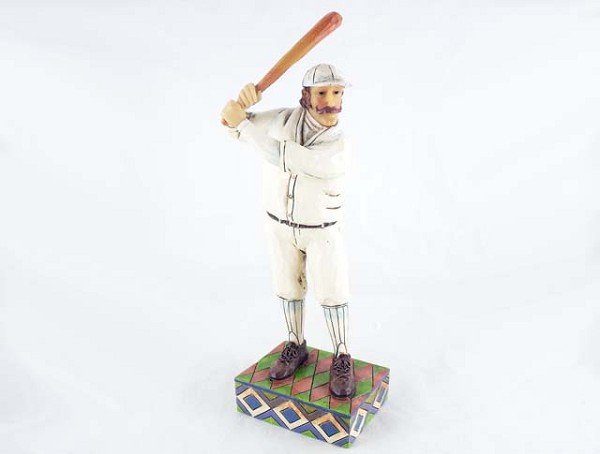 """Swing, Batter, Swing"" - Old-Time Baseball - Jim Shore Heartwood Creek - Stone Resin Figurine"