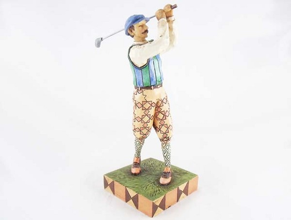 """Time for Tee"" - Vintage Golfer Resin Figurine - Jim Shore Heartwood Creek"