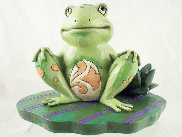 """Bounce with Me"" - Frog on Lily Pad - Jim Shore Heartwood Creek - Stone Resin Figurine"