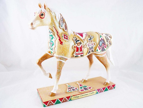 Village Christmas Cookie - 1E - Holiday 2012 Trail of Painted Ponies - Native American Tribal Collection - Resin Figurine - Retired