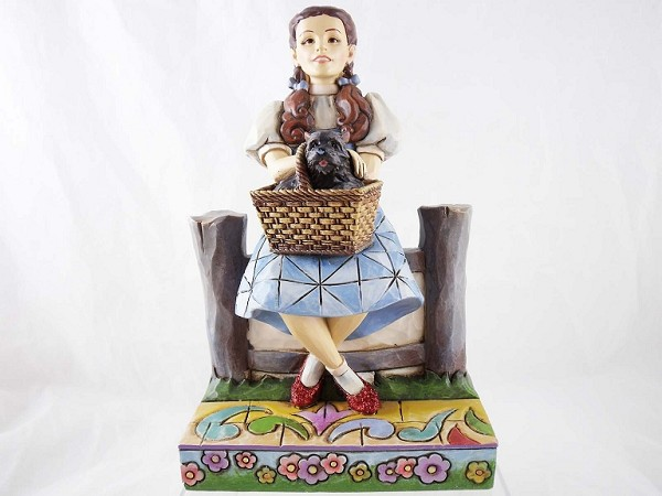 """I Keep Forgetting I'm Not In Kansas"" - Dorothy and Toto in Oz - Wizard of Oz by Jim Shore - Resin Figurine"